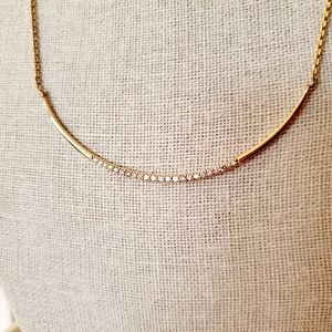 Stella & Dot Crescent Necklace - Gold
